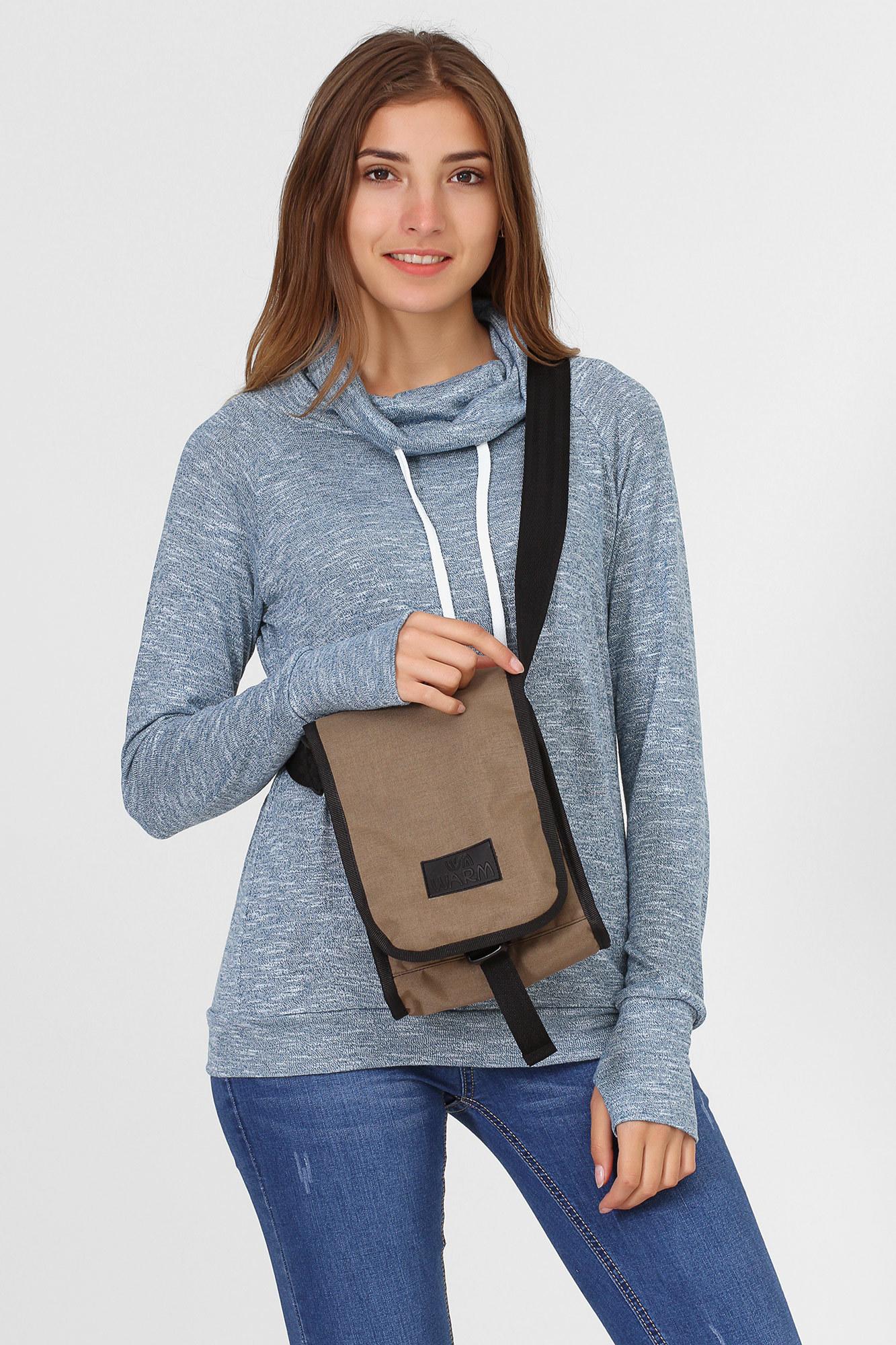 GEN Однотонная сумка Мессенджер на плечо хаки