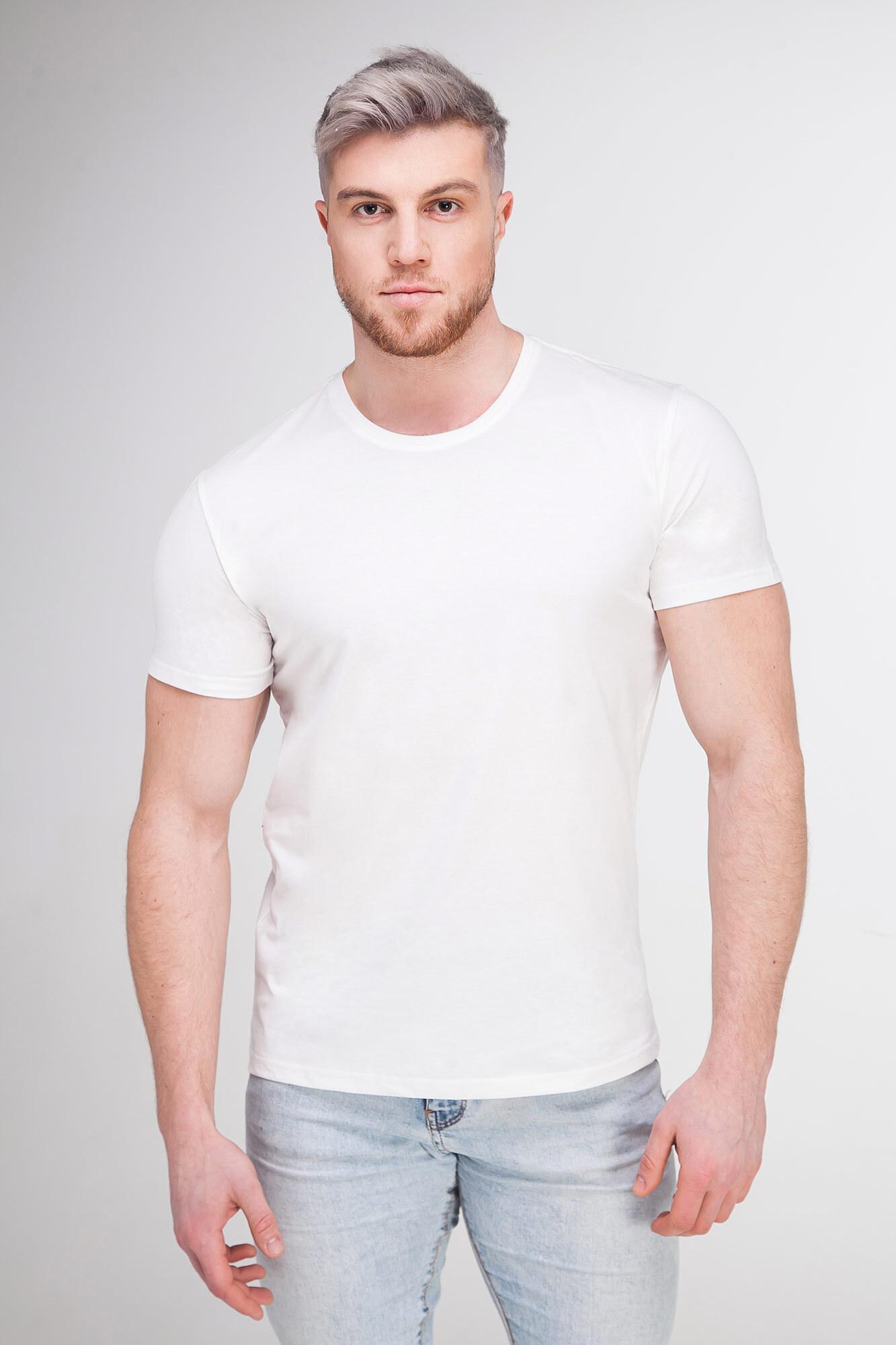 Однотонная базовая футболка белого цвета
