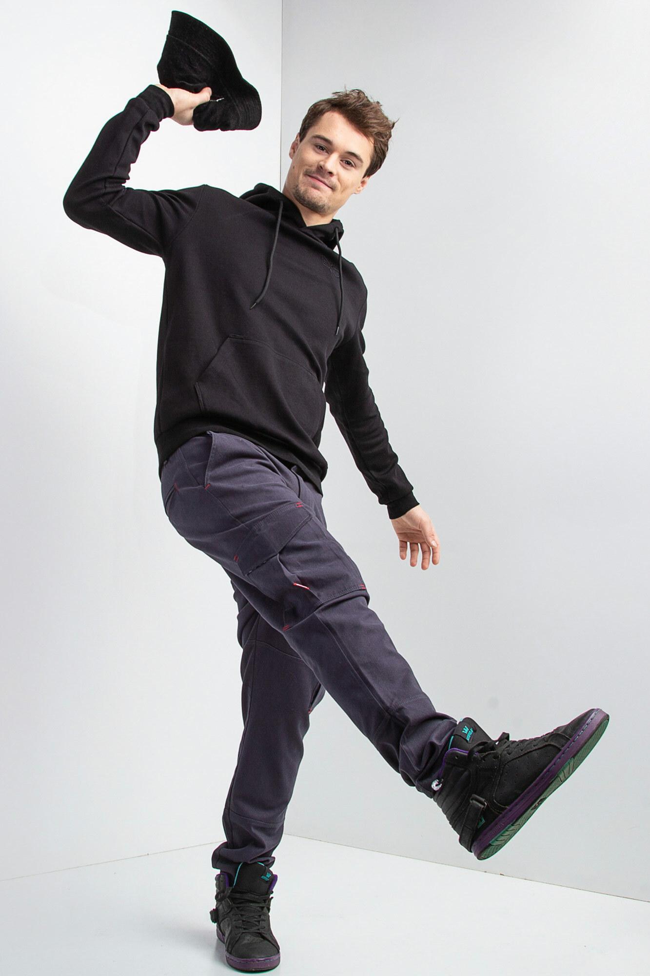 GEN Черная трикотажная толстовка с капюшоном и вышивкой на спине - Фото 5