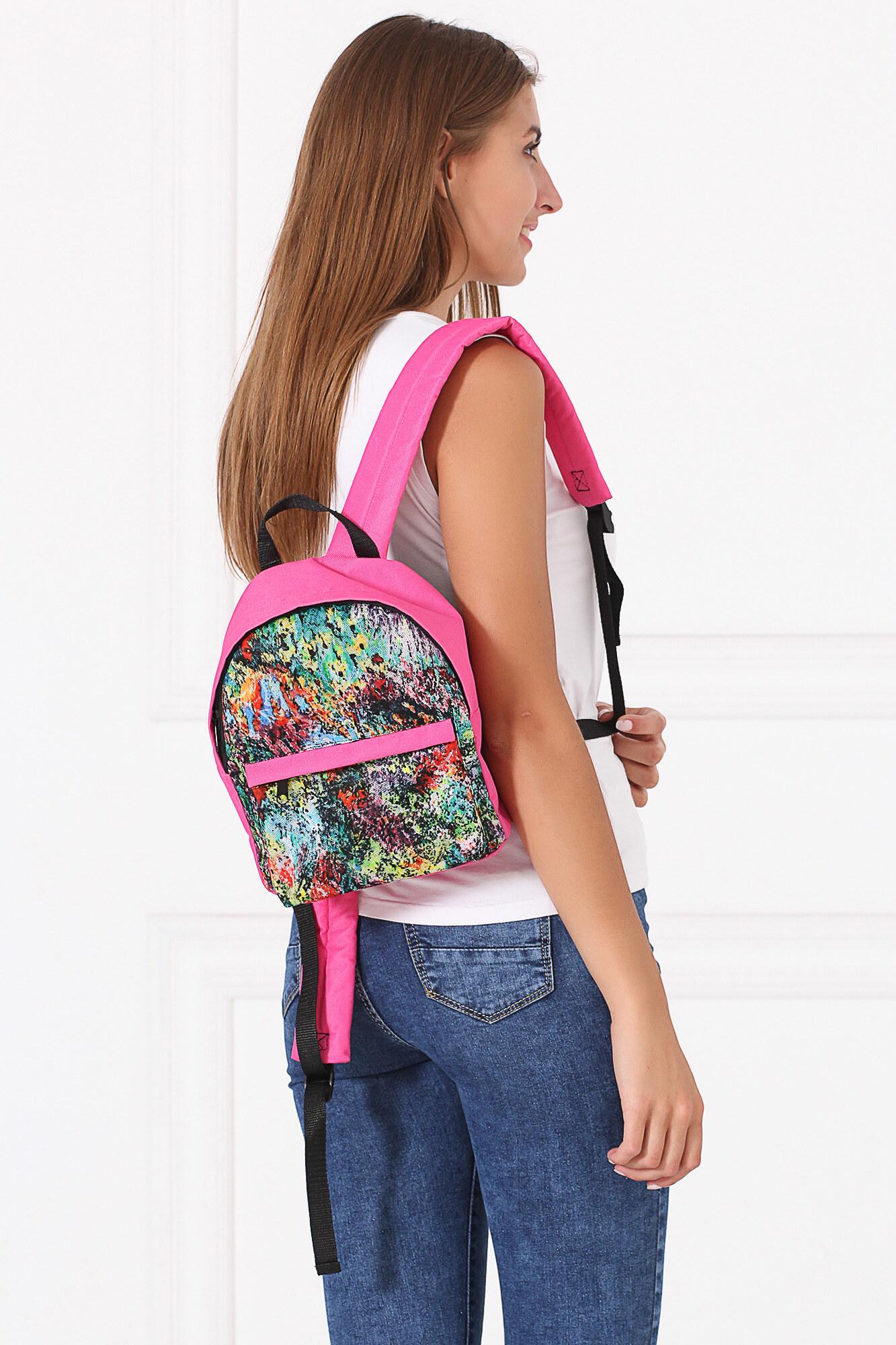 GEN Мини-рюкзак розового цвета с цветочным принтом