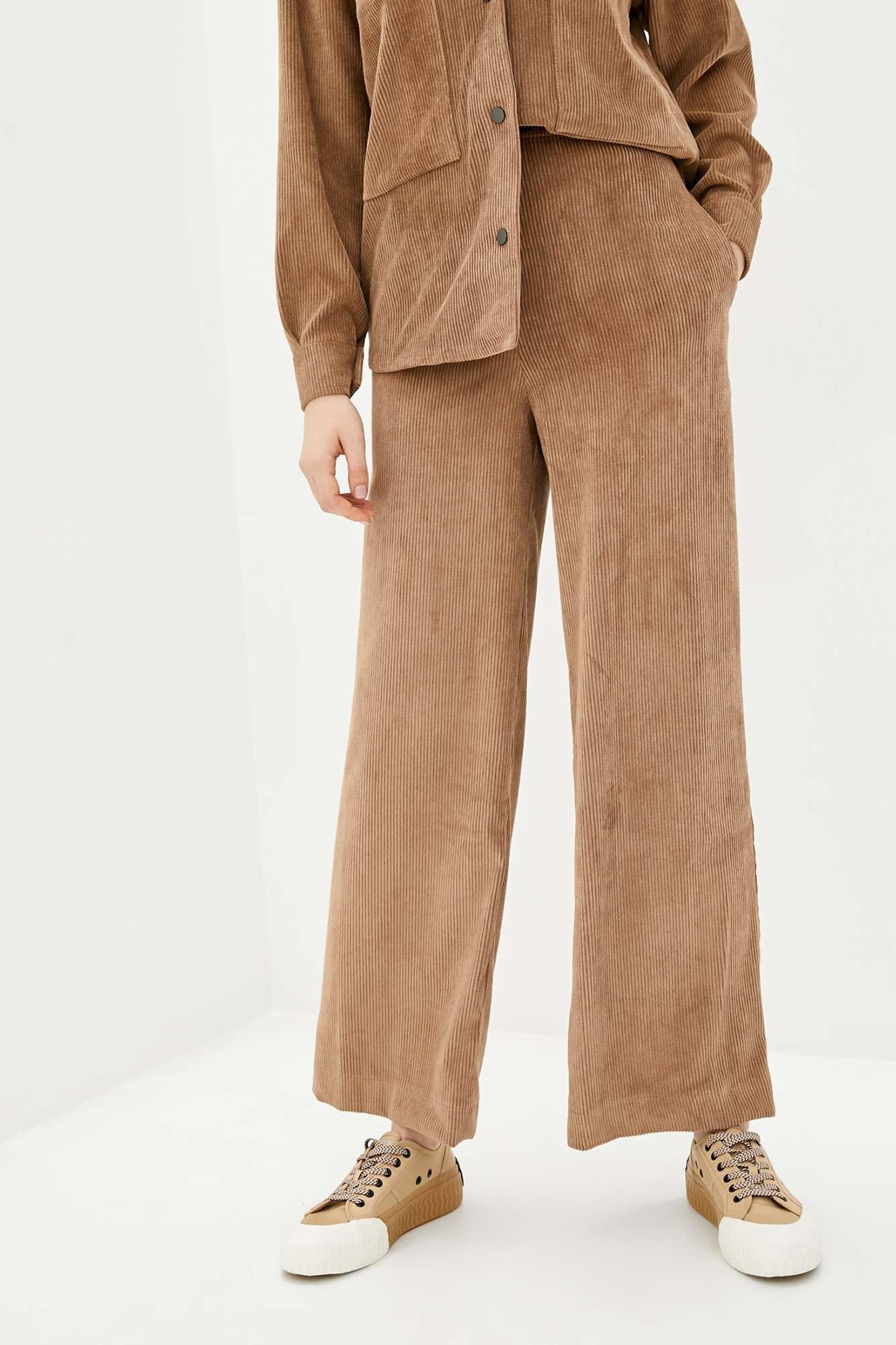 Высокие брюки из вельвета песочного цвета GEN