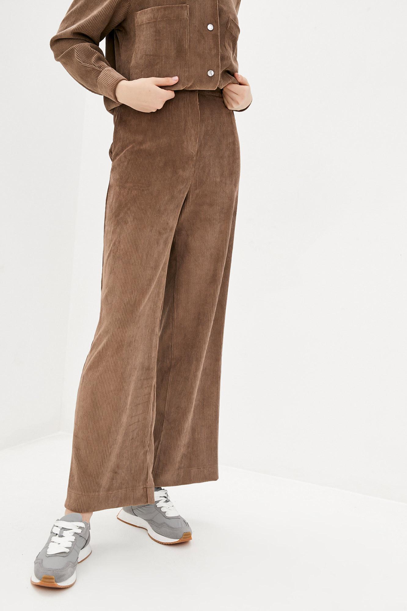Высокие брюки из вельвета шоколадного цвета GEN