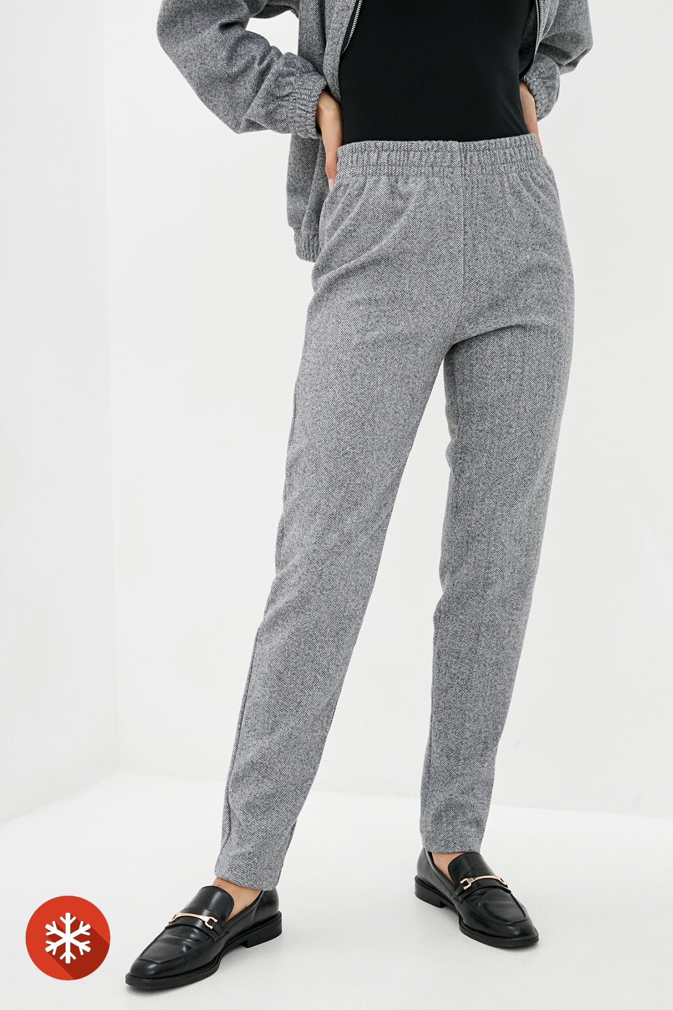 Коричневые полушерстяные брюки на осень