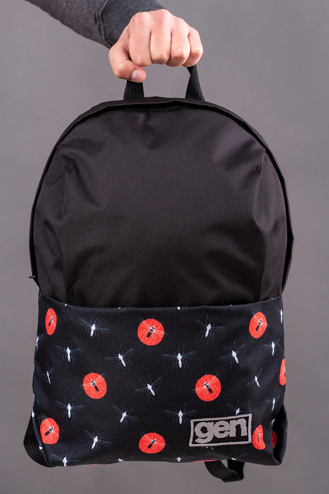 GEN Черный городской рюкзак из непромокаемой кордуры с карманом для ноутбука