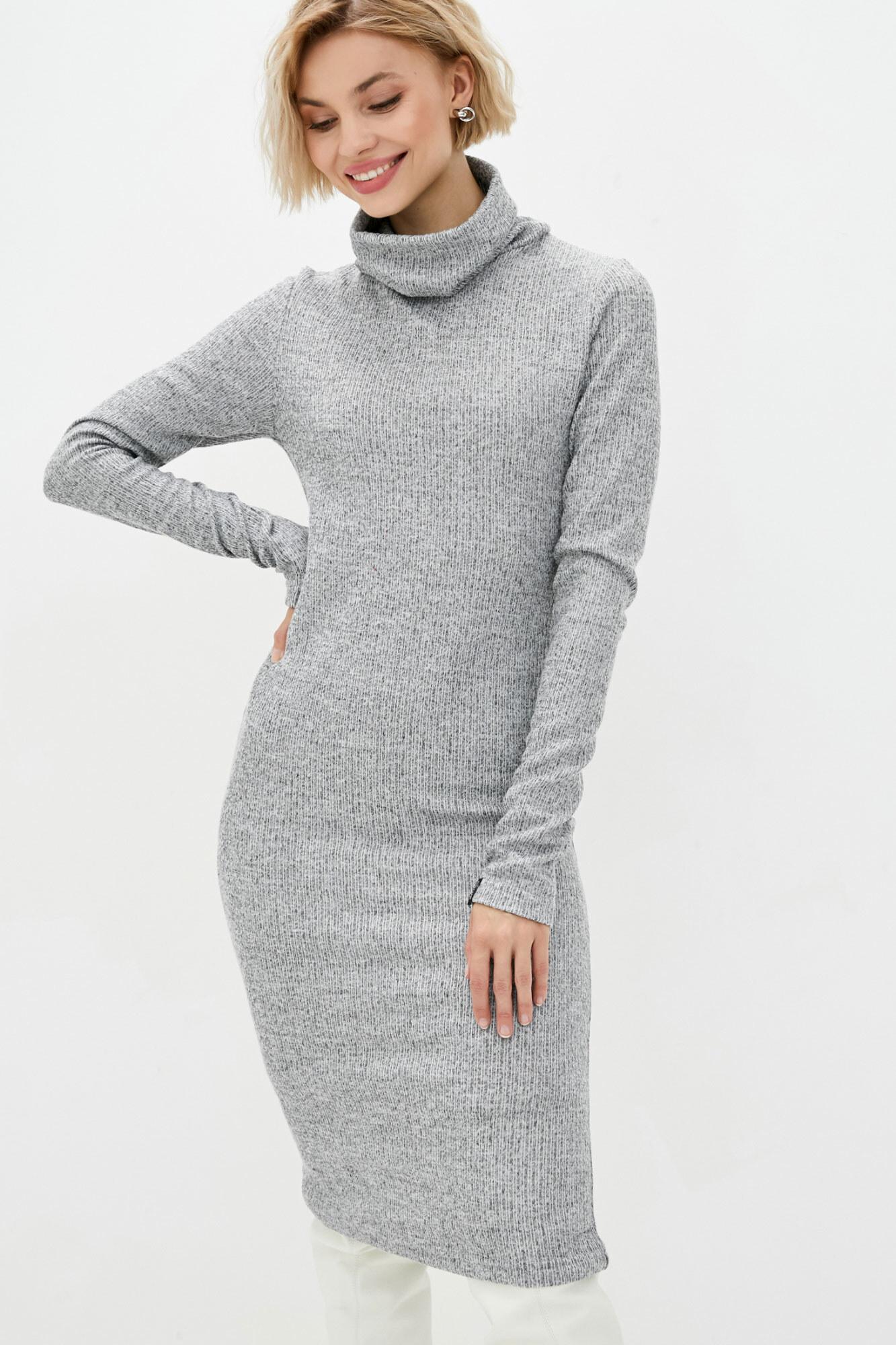 Трикотажное платье гольф серого цвета
