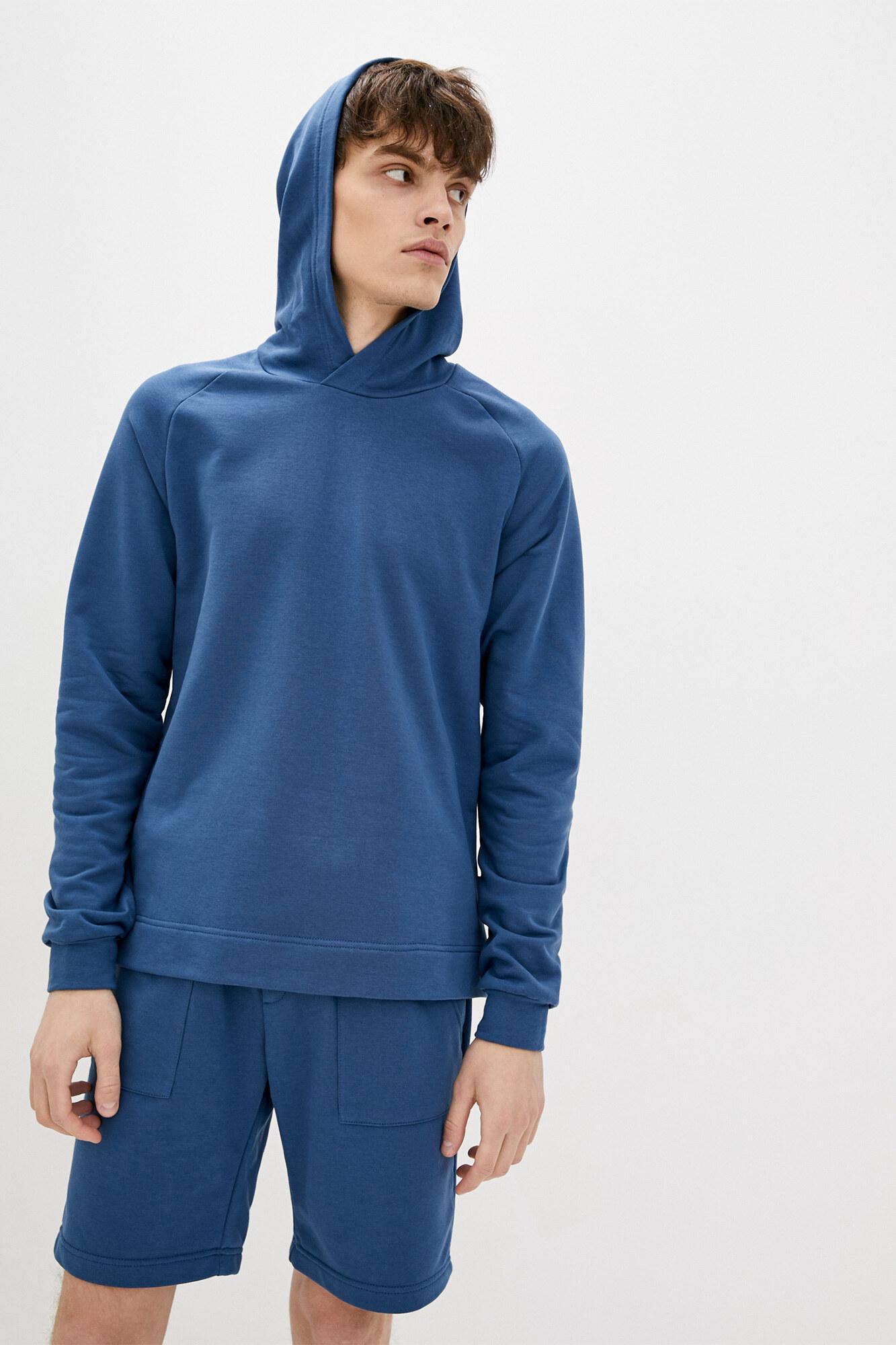 Трикотажная кенгурушка синего цвета GEN