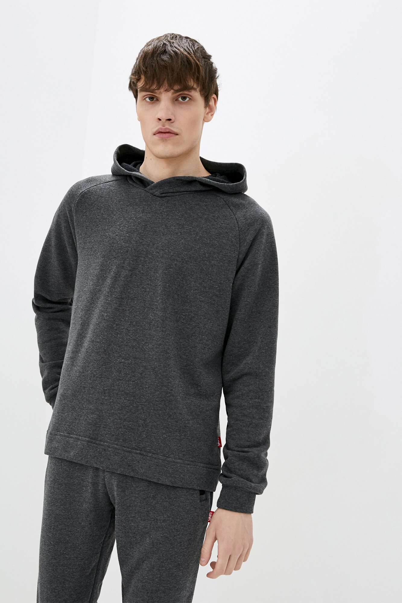 Трикотажная кенгурушка серого цвета GEN