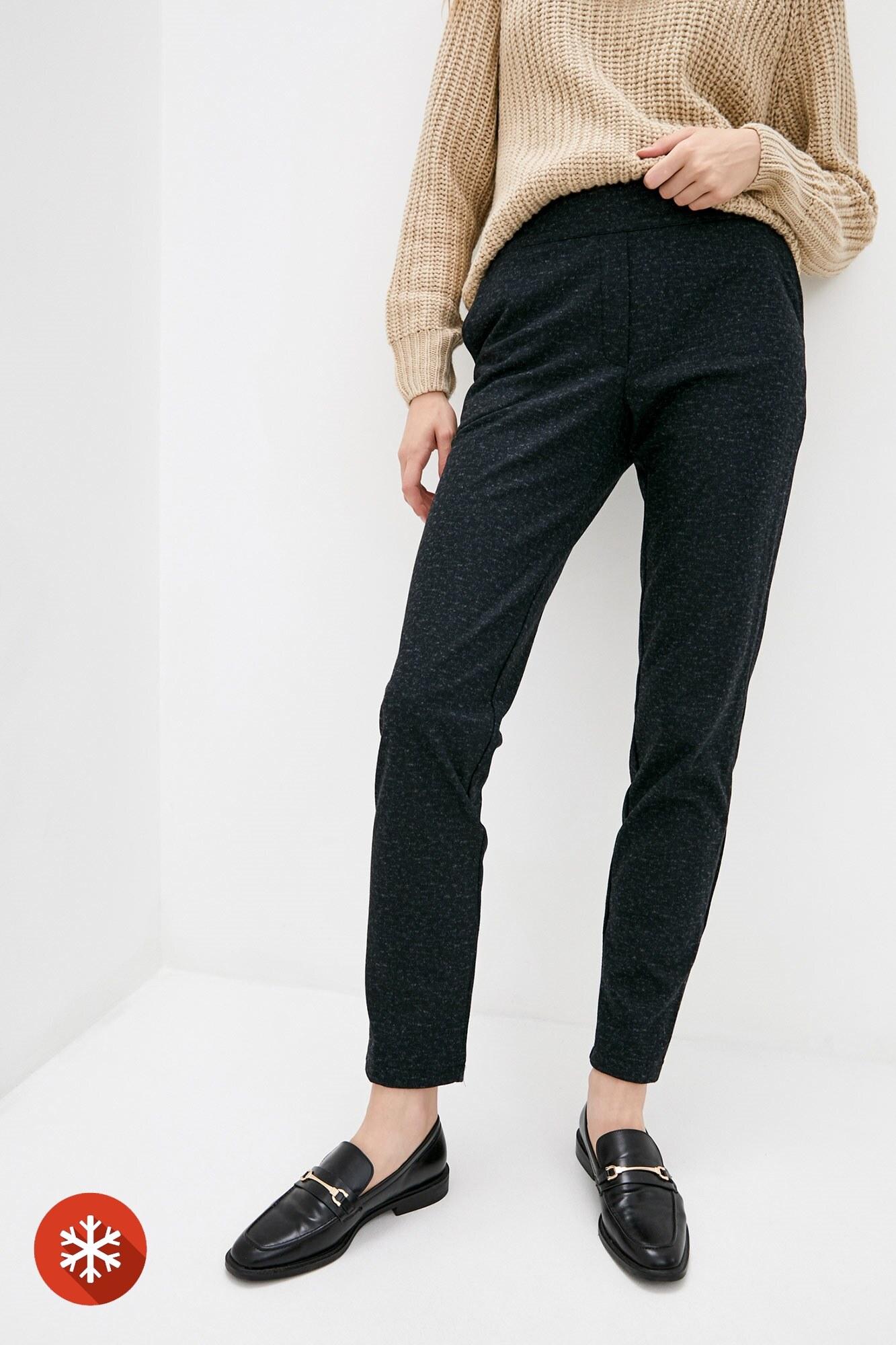 Полушерстяные прямые брюки на осень
