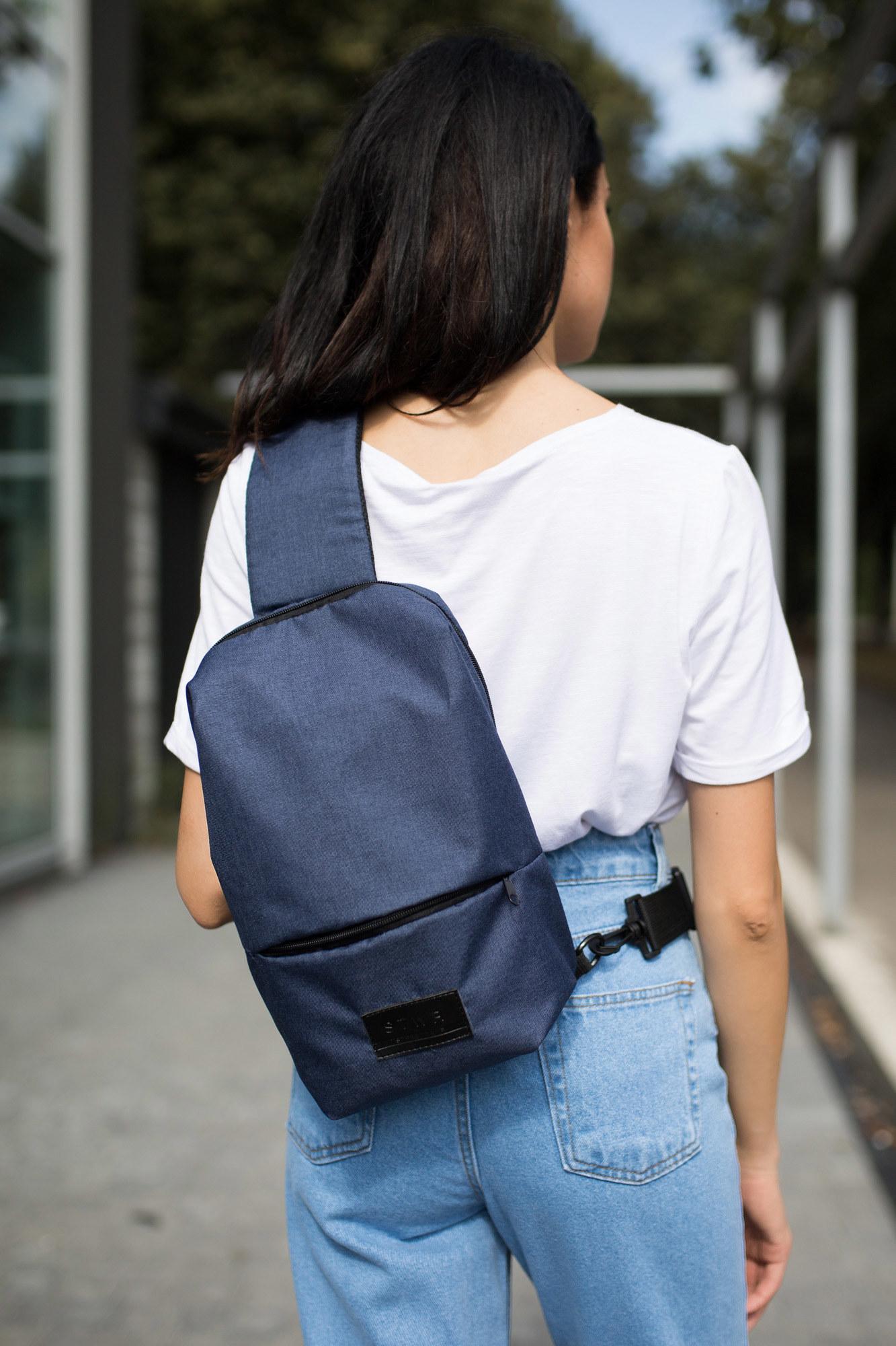 GEN Синий рюкзак SLING с одной ручкой через плечо