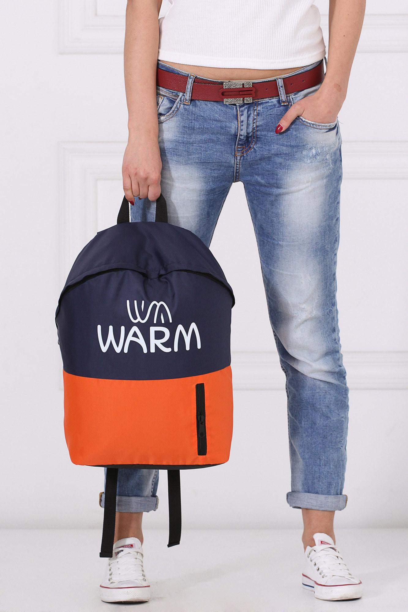 GEN Комбинированный городской рюкзак сине-оранжевый