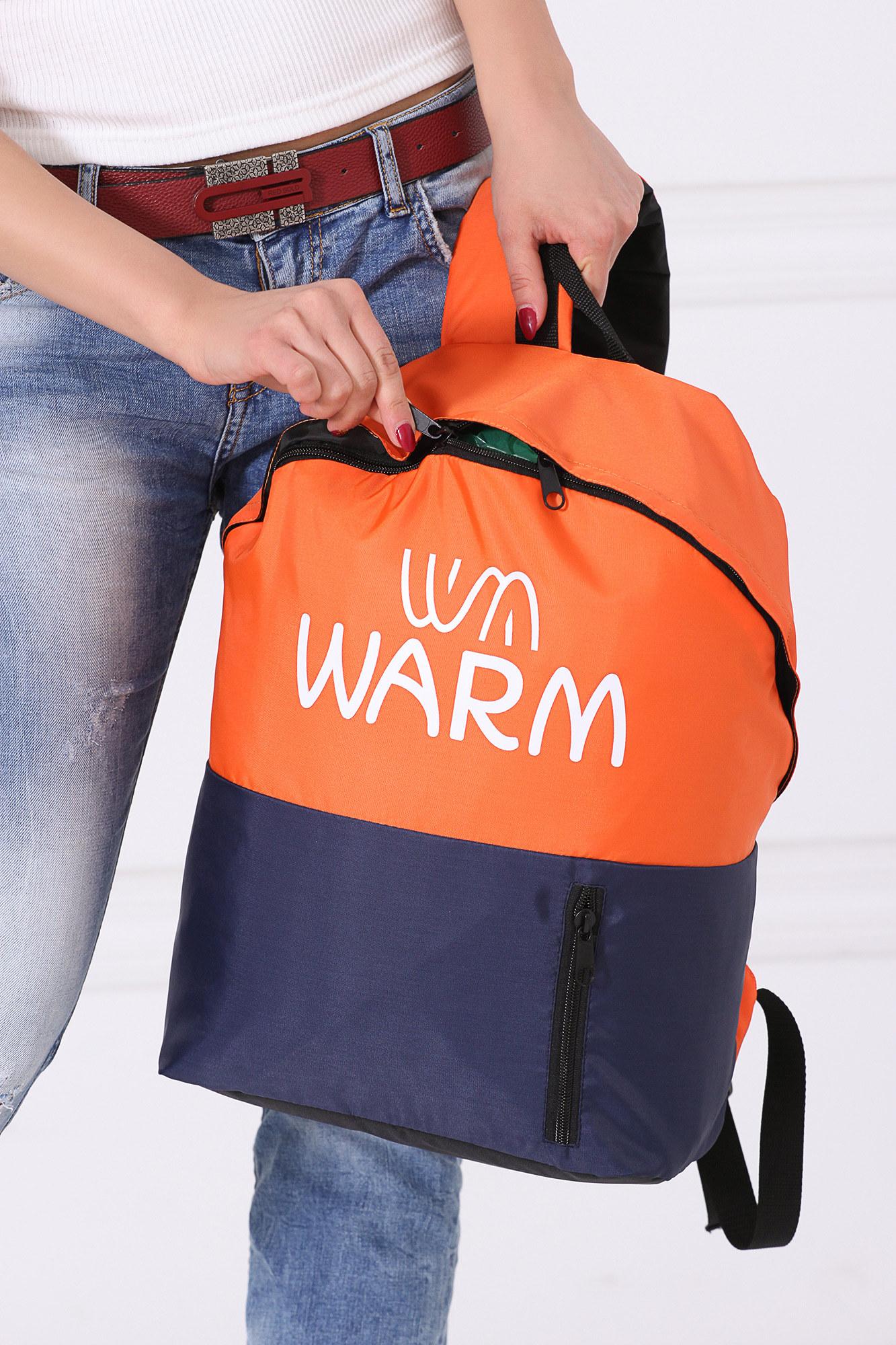 GEN Комбинированный городской рюкзак оранжево-синий