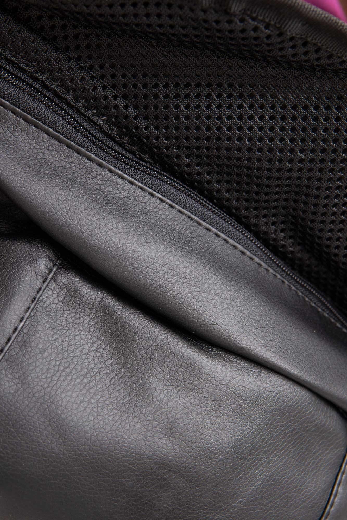 Прямоугольная сумка на пояс бананка черного цвета с клапаном - Фото 6