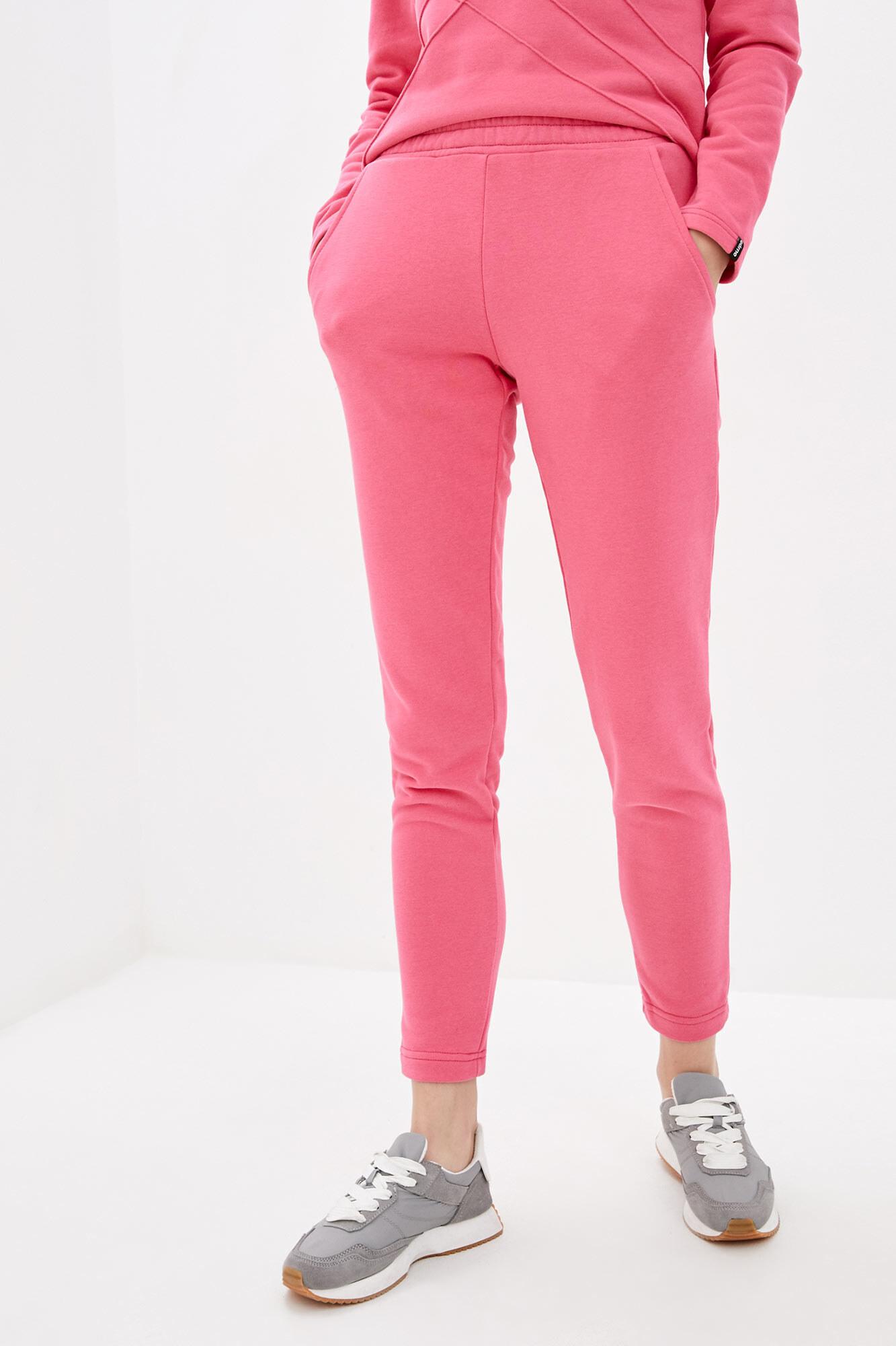 Спортивные хлопковые штаны розового цвета