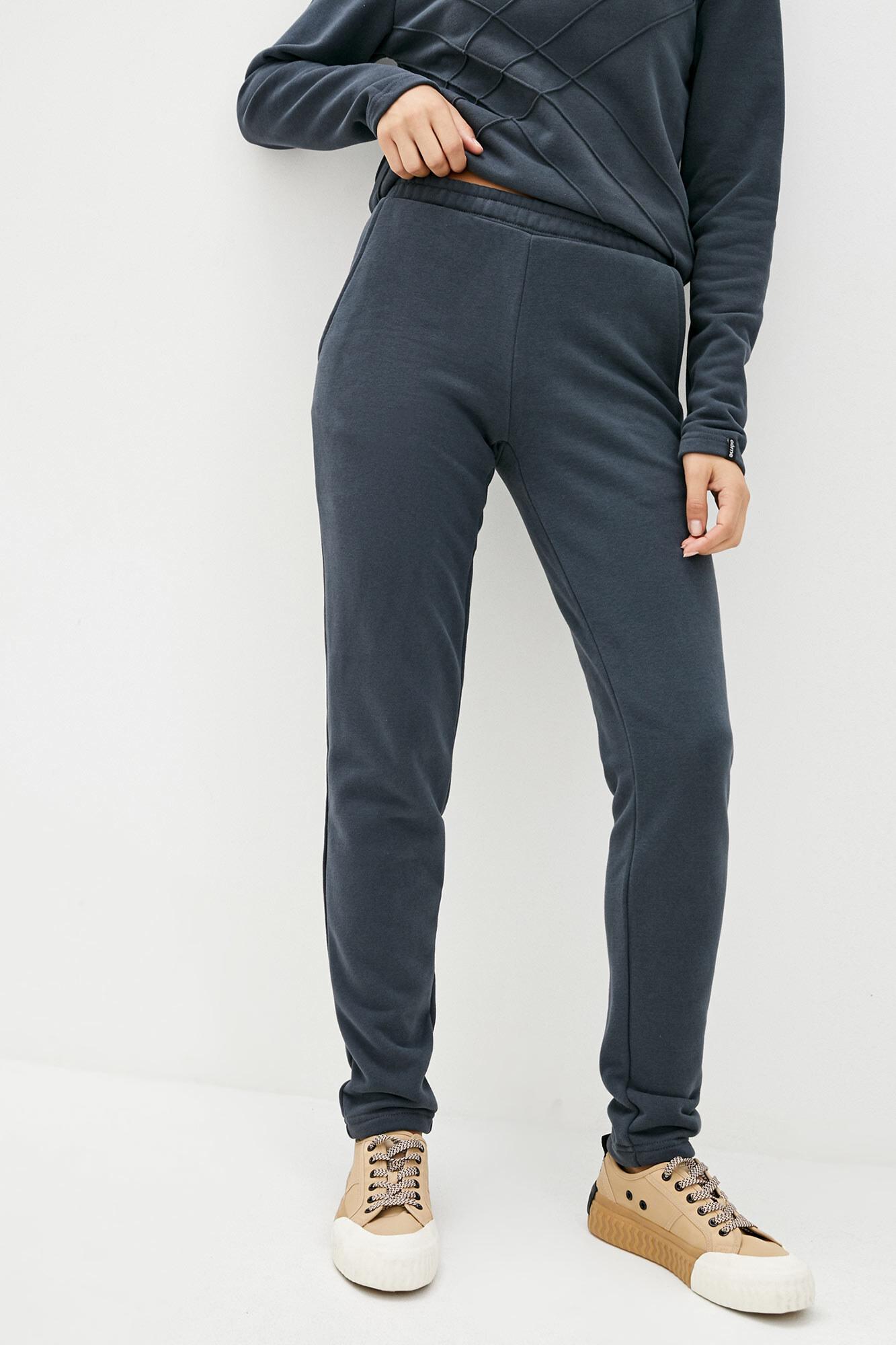 Спортивные хлопковые штаны серого цвета