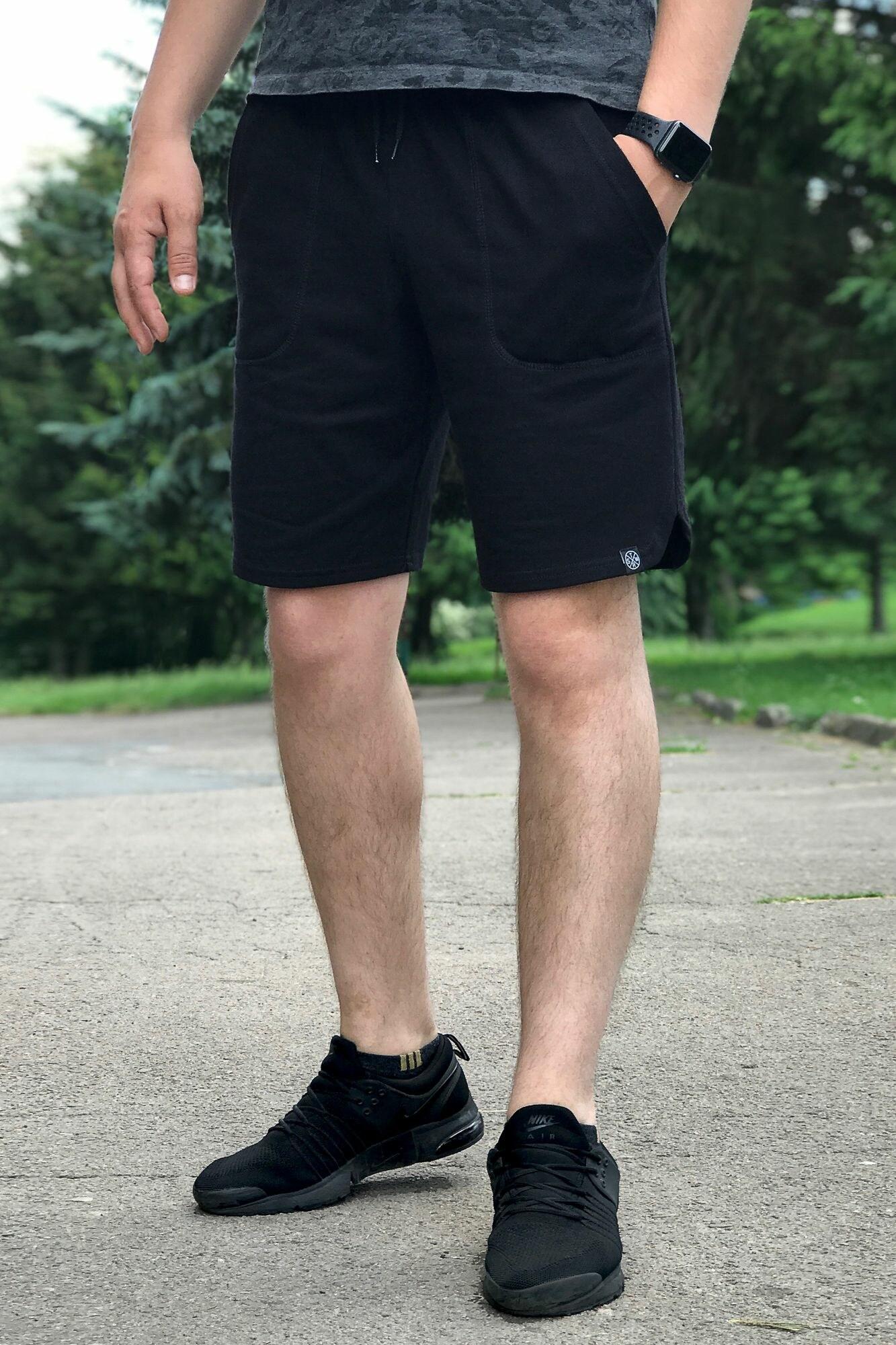 GEN Черные трикотажные шорты в спортивном стиле
