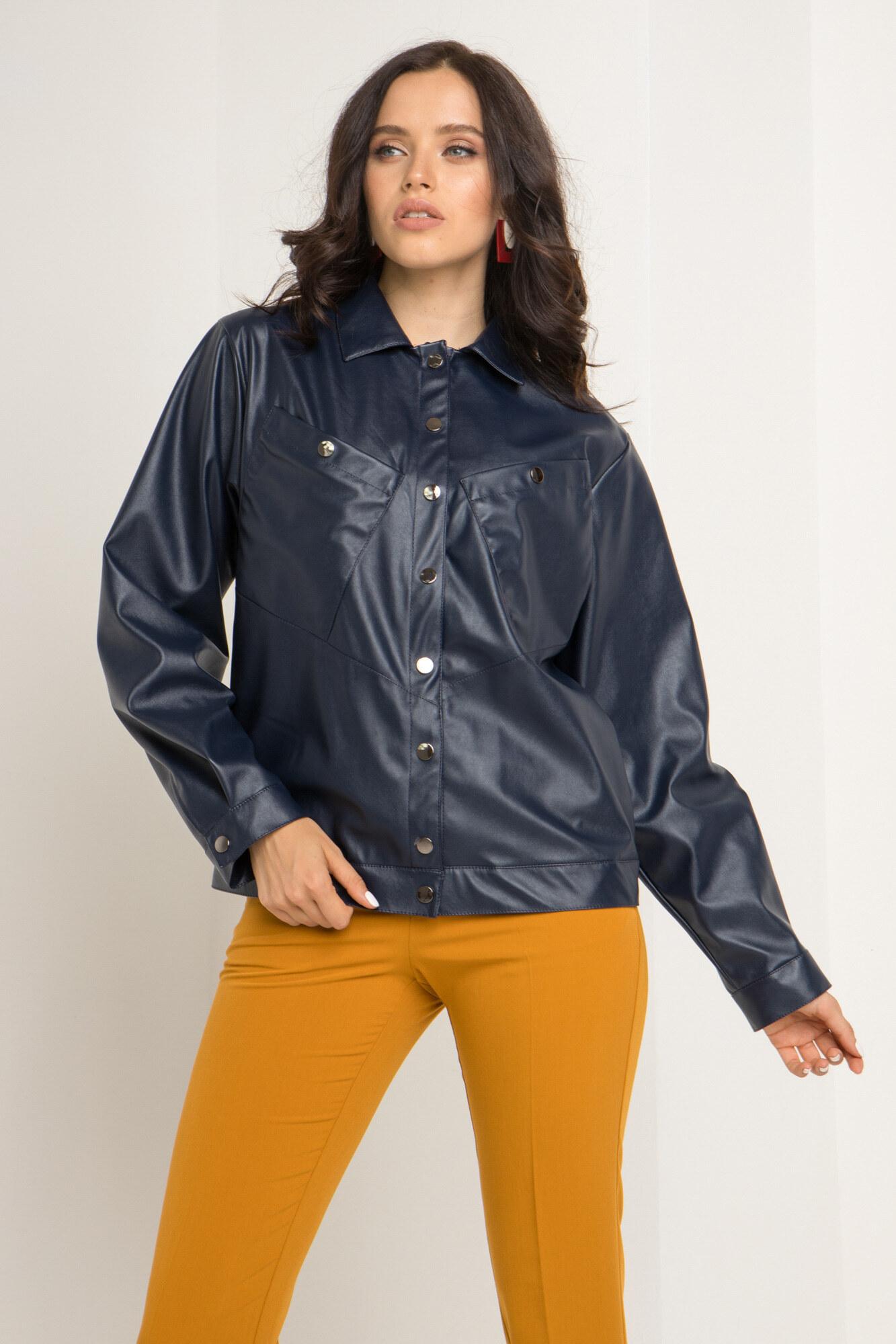 Демисезонная короткая куртка из кожзама GEN