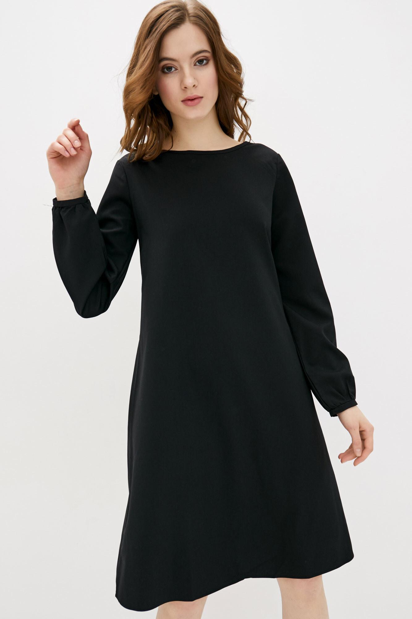 Свободное платье миди с длинными рукавами на манжетах GEN