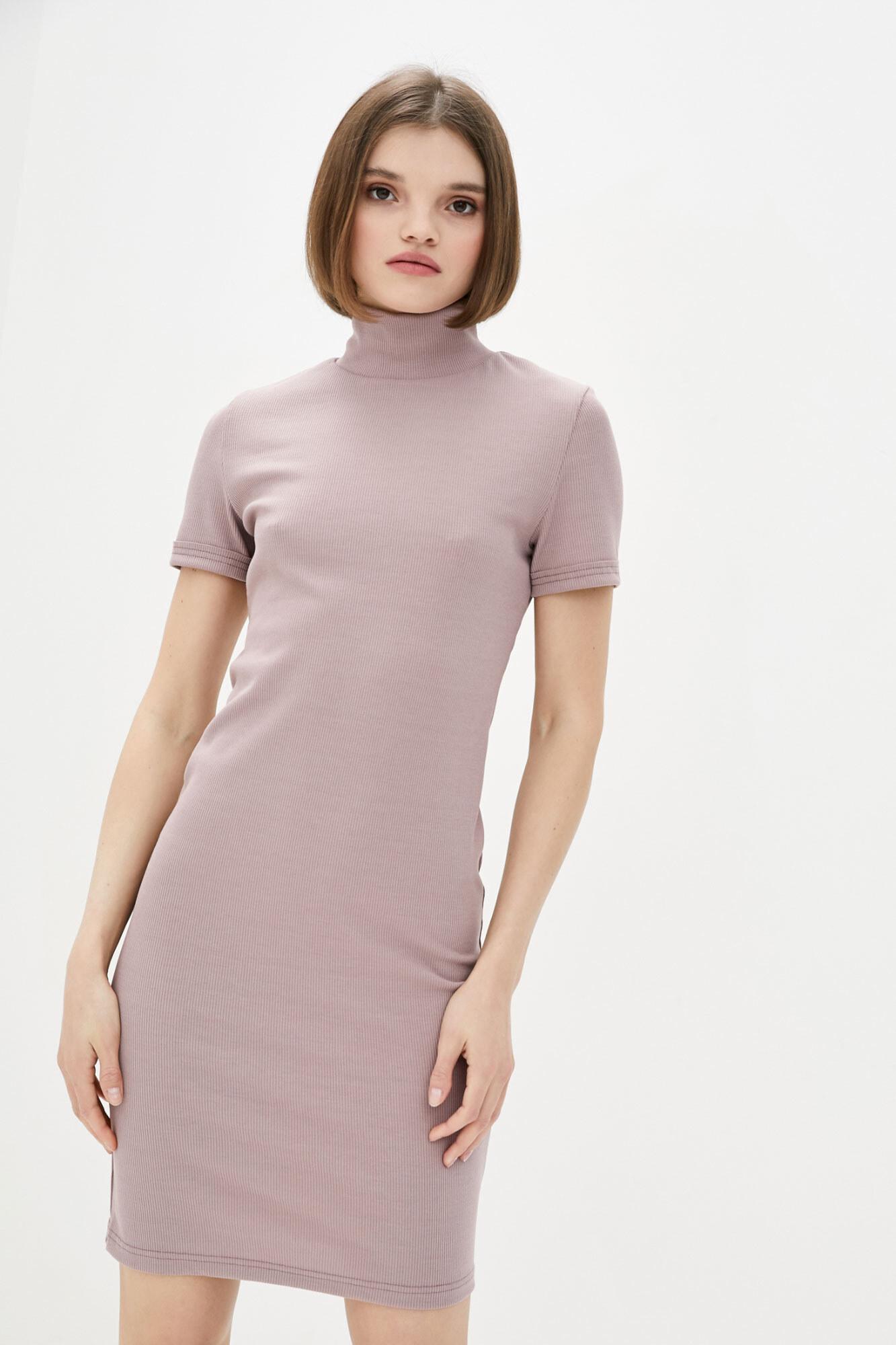 Платье гольф с короткими рукавами пастельного оттенка GEN