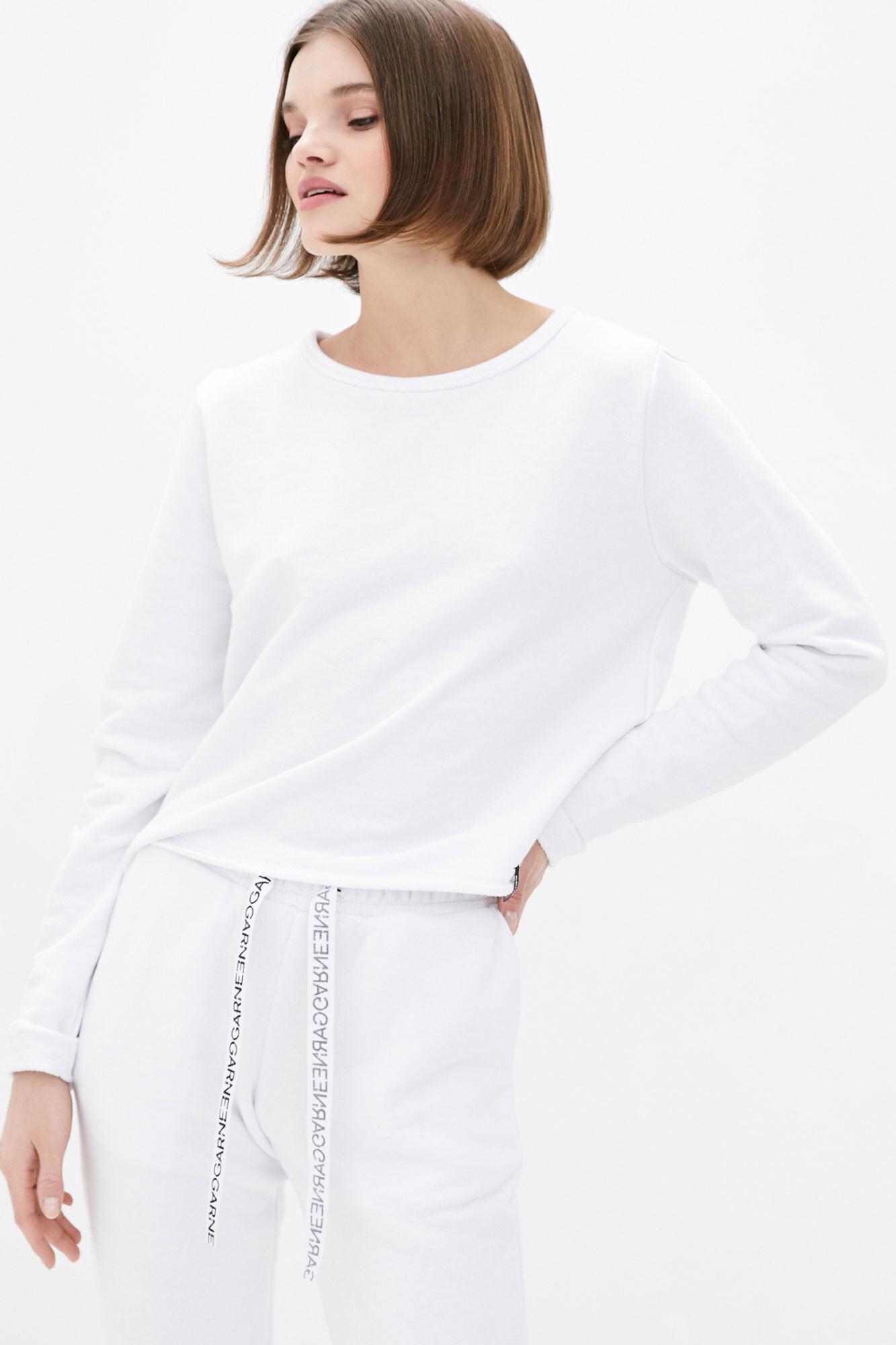 Укороченный спортивный свитшот белого цвета GEN