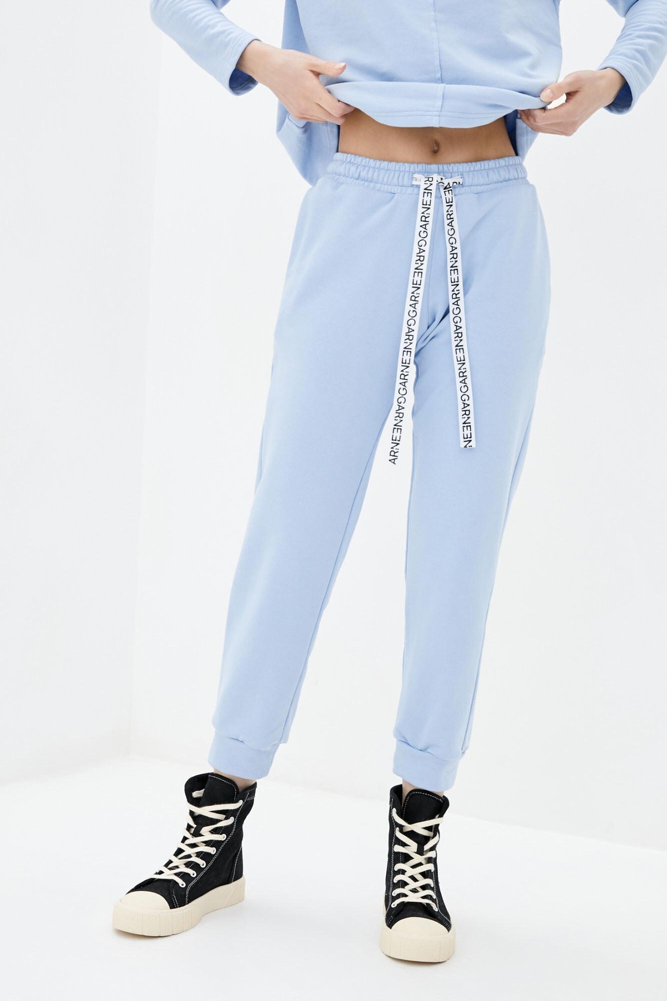 Хлопковые спортивные штаны джоггеры голубого цвета GEN