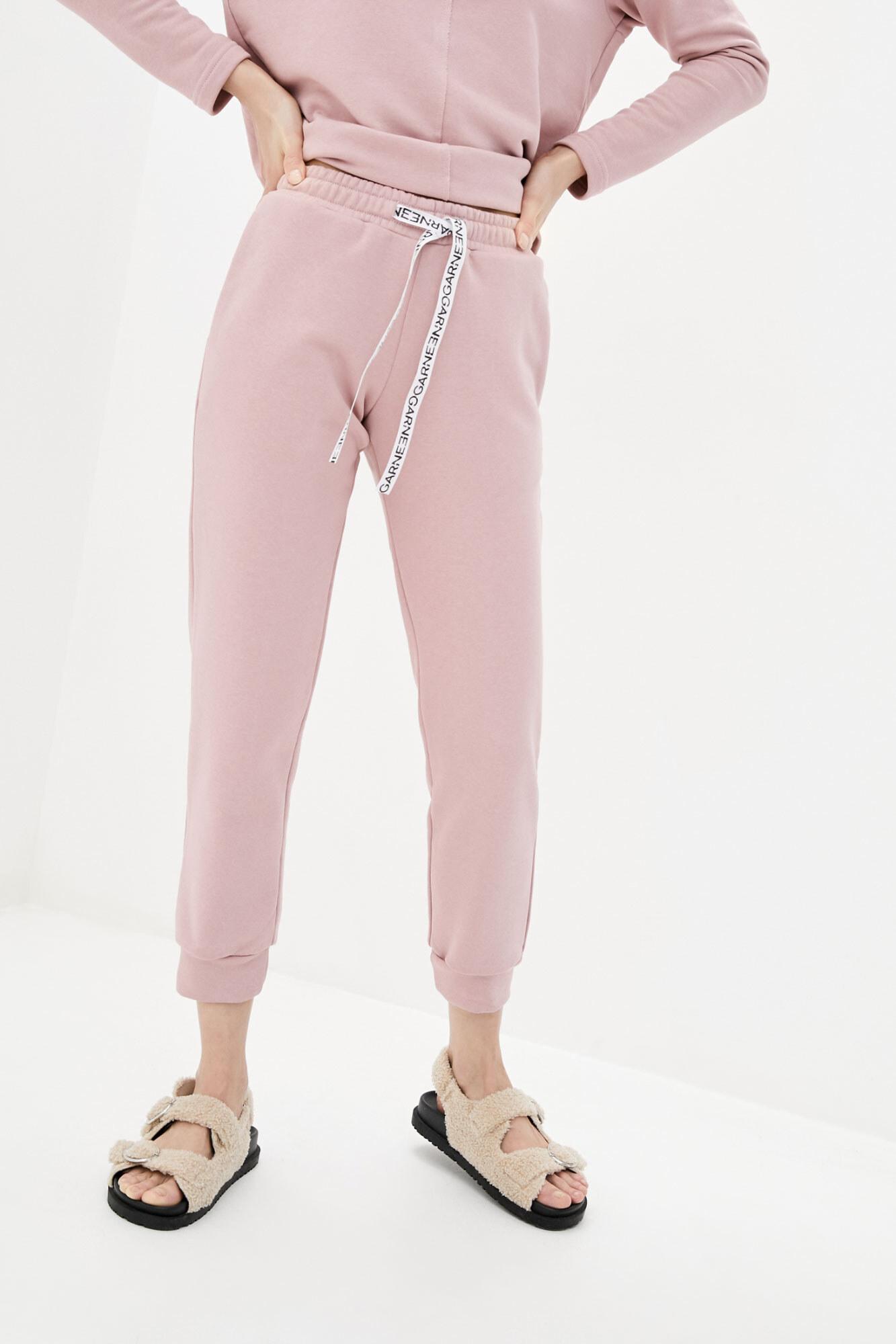 Хлопковые спортивные штаны джоггеры розового цвета GEN