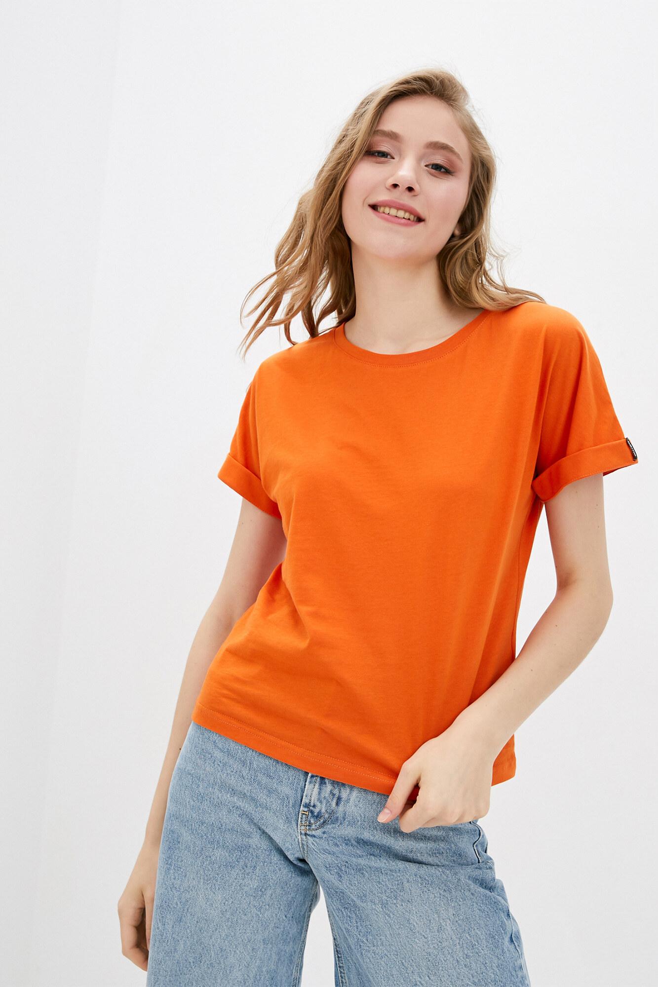 Базовая трикотажная футболка кирпичного цвета GEN