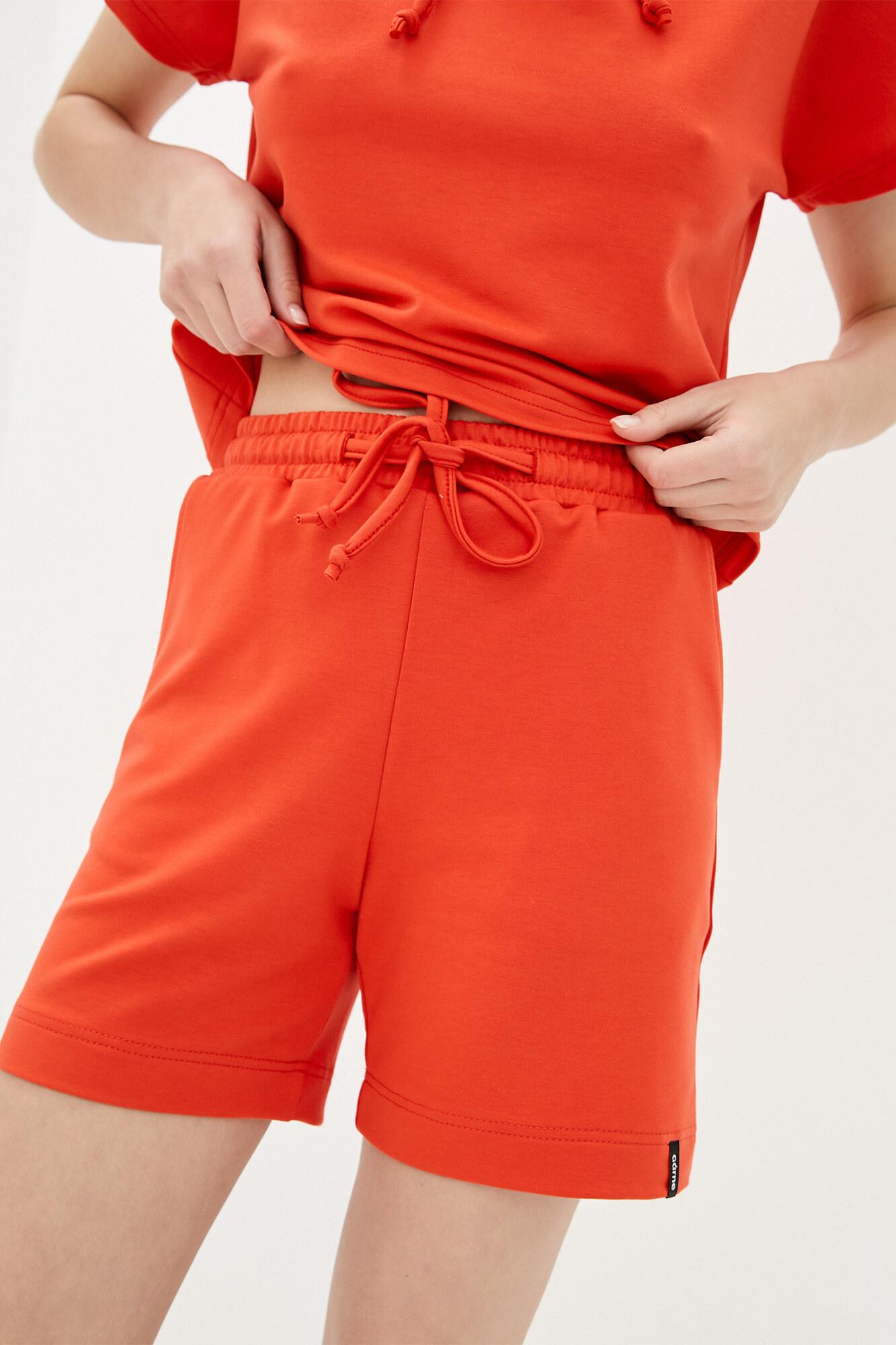 Хлопковые спортивные шорты кирпичного цвета GEN