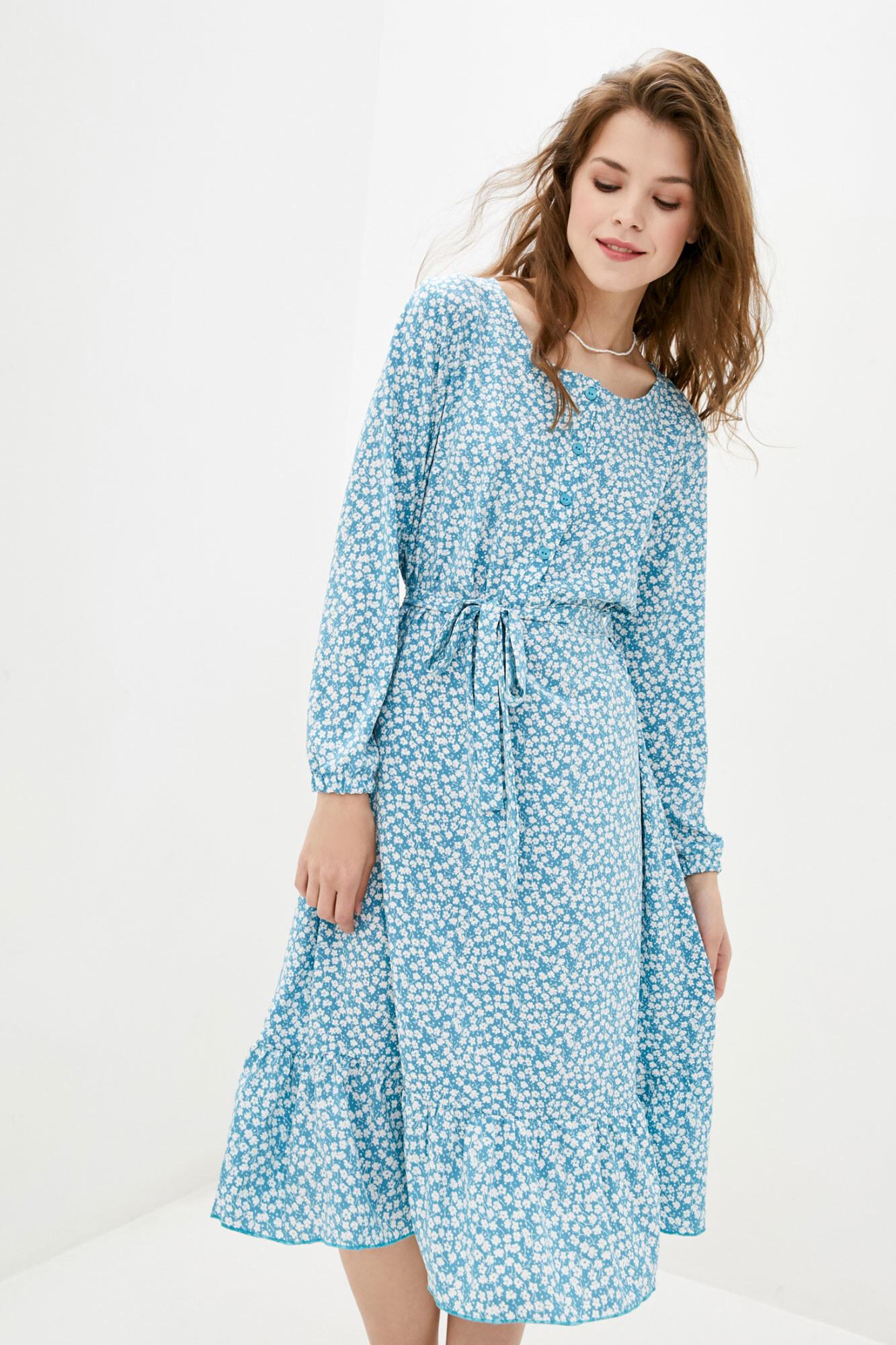 Платье SPIRIT короткое голубое GEN