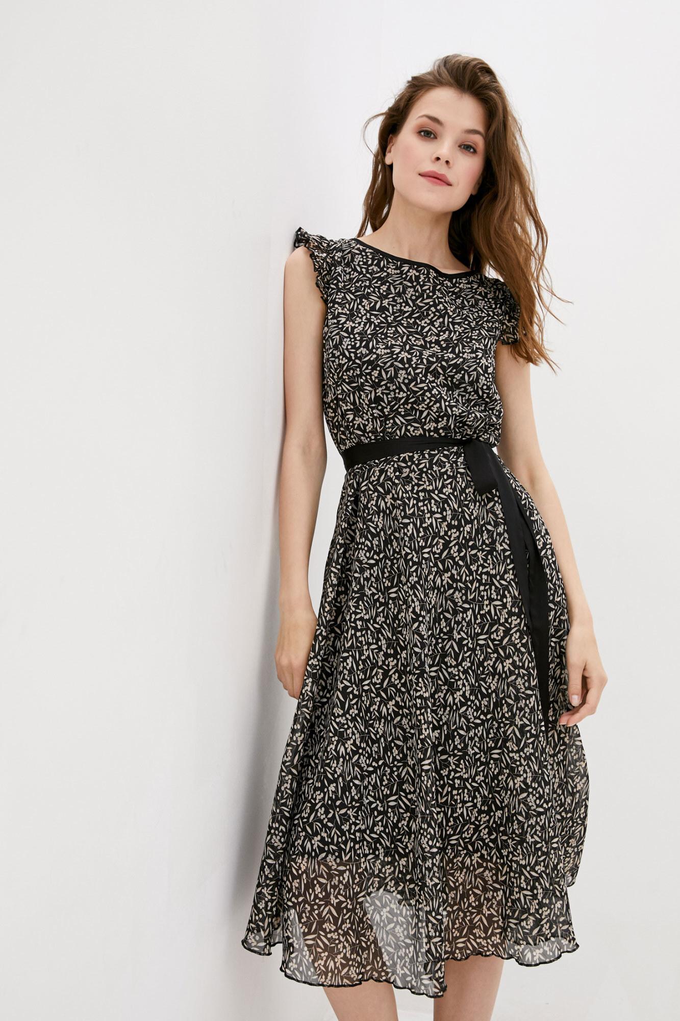 Платье RUBINA с черным поясом GARNE